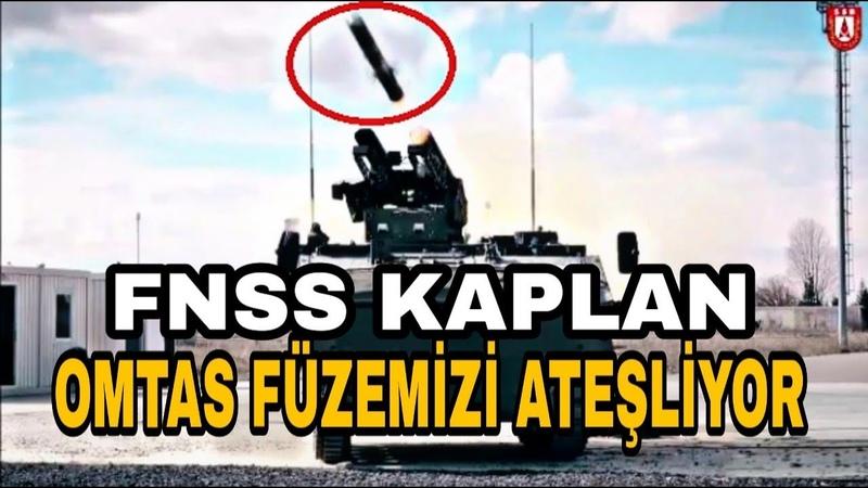 FNSS KAPLAN'DAN Omtas Füzesi Atışı