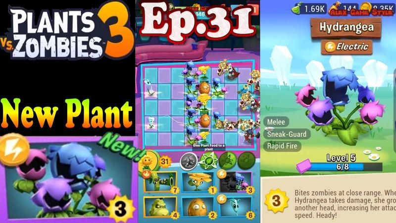 Plants vs Zombies 3 New Plant Hydrangea Ep 31