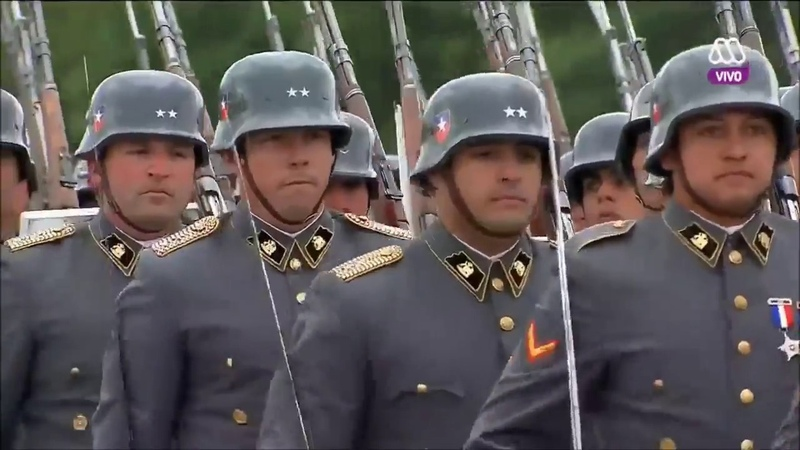 Chilean Army Parade - Alte Kameraden (Heino Version - Prussian Style Army)