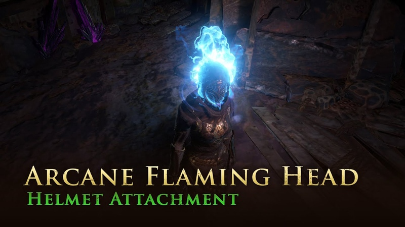 Path of Exile Arcane Flaming Head Helmet Attachment