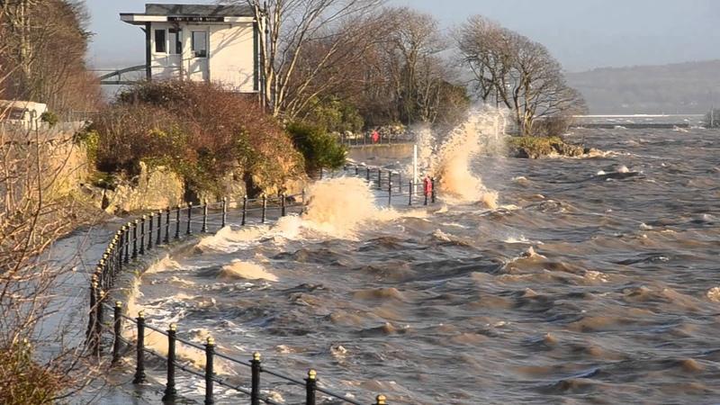 High Tide Grange-over-Sands, Cumbria, 3 January 2014