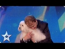 Marc Métral and his talking dog wow the Judges! | Britain's Got Talent Unforgettable Audition