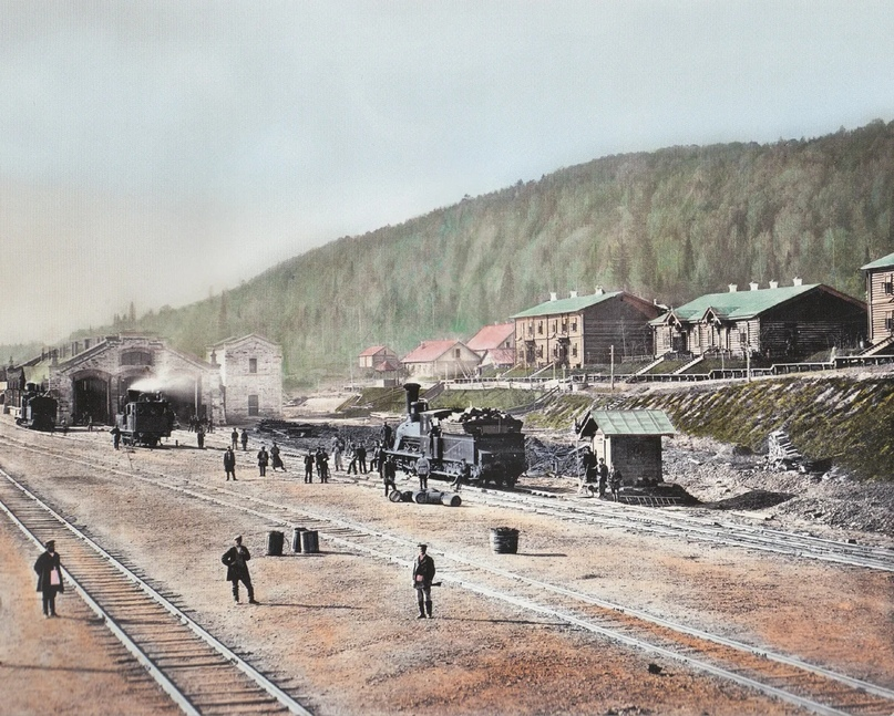 Первозданная железнодорожная Россия в цвете эпохи царской Империи глазами неизвестного фотографа, изображение №6