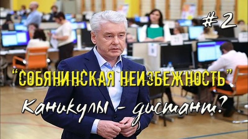 Собянинская неизбежность каникулы ДИСТАНТ 📞Звонок в пресс службу Минпросвещения 06 10 2020