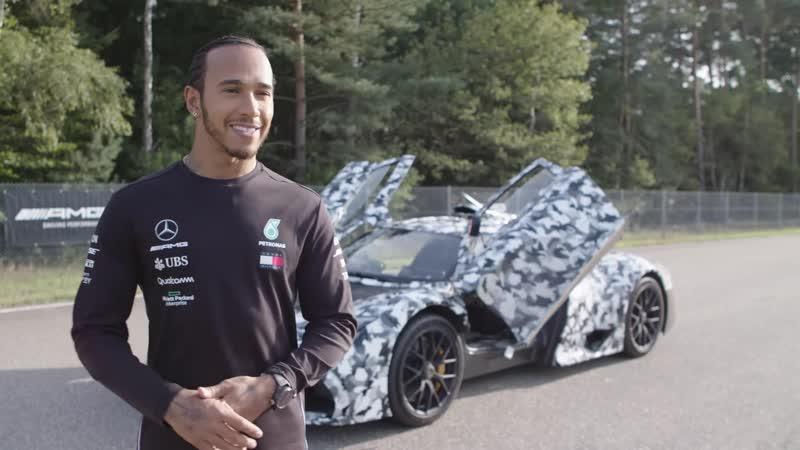 Льюис впервые видит Mercedes-AMG Project ONE (тестовую версию) в действии
