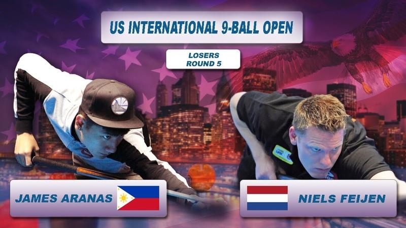 James Aranas Niels Feijen US International 9 Ball Open 2018