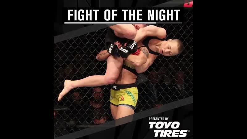 UFC237 fight of the night goes to @RoseNamajunas @JessicaMMAPro @ToyoTires
