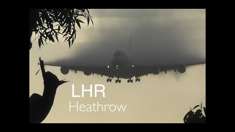 *Wing Condensation Vortex, Heavy Landings* London Heathrow Airport Incl, 5x A380s..more
