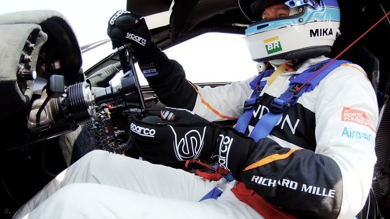 Mika Häkkinen drives the McLaren F1 GTR at Laguna Seca Raceway