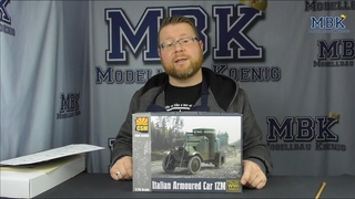 MBK packt aus #399 - 1:35 Italian Armoured Car 1ZM  (Copperstate Model 35005)