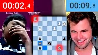 "Магнус Карлсен ЗЕВАЕТ 15-летнему ВУНДЕРКИНДУ! ""Я учу детей шахматам, а не манерам!"" :)"