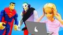 Видео про Барби. Супергерои вышли из игры! Игрушки из мультфильмов