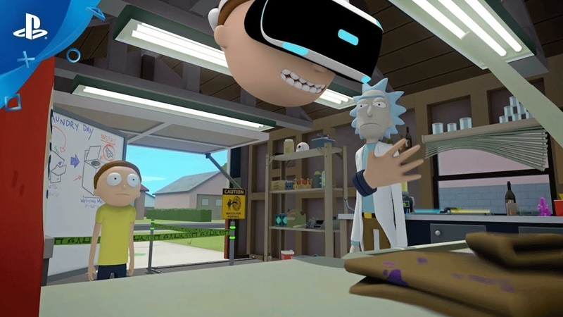 Rick and Morty Virtual Rick ality PSX 2017 Announce Trailer PS VR