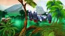 Футаж для видеомонтажа детских фильмов Попугаи джунглей