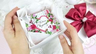 Свадебная коробочка для денег/ Скрапбукинг / Оригинальный свадебный подарок/ Свадебная открытка