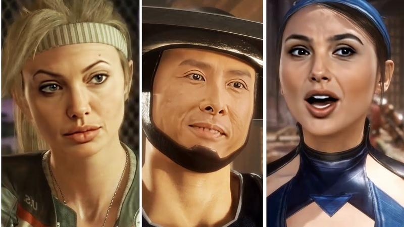 Celebrities in Mortal Kombat 11 Angelina Jolie Scarlett Johansson Gal Gadot Donnie Yen DeepFake