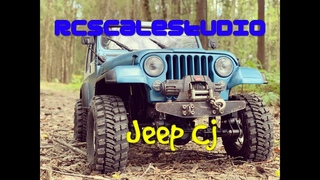 RcScalestudio 1/10 rc Jeep Cj scale run in sping forest