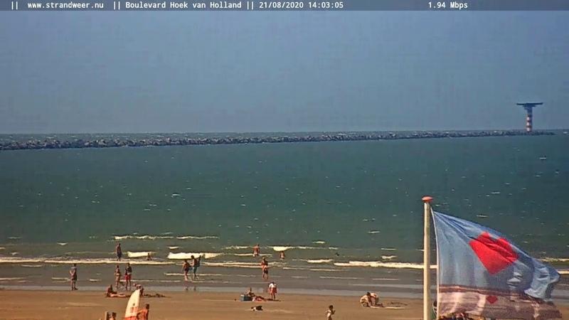 Live Hoek van Holland Boulevard en Beach Webcam
