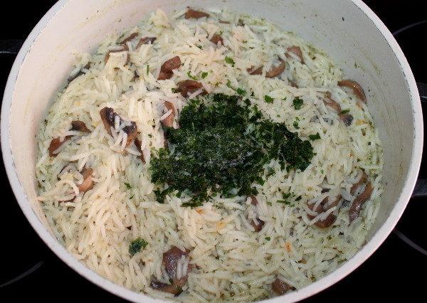 Рис с грибами и луком, изображение №5