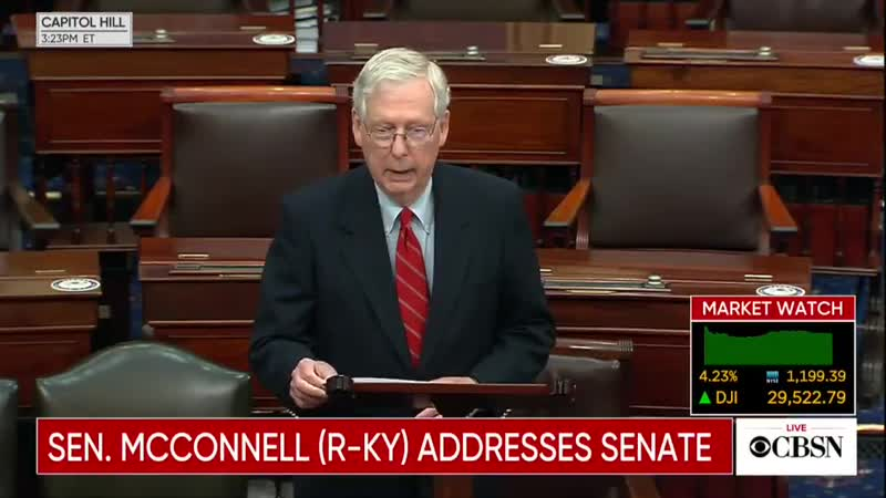 U S Senate Majority Leader McConnell does not acknowledge Biden as President elect or Harris as Vice President elect