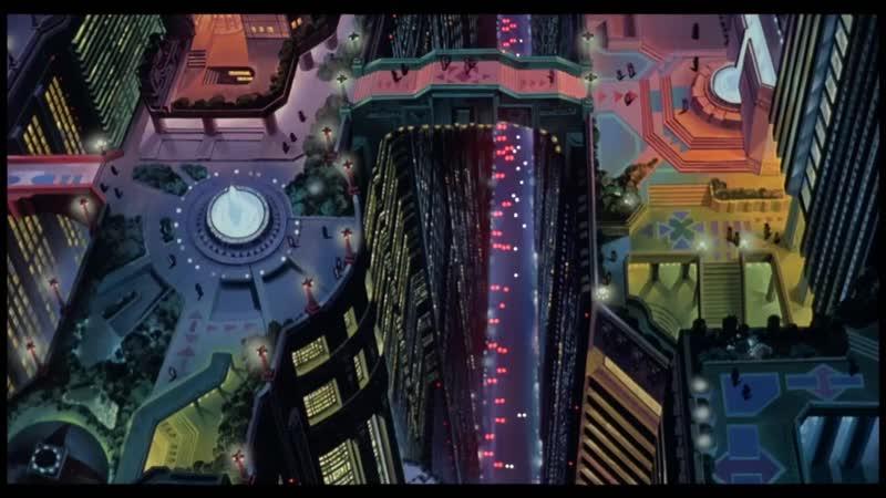 Акира 1988 Погоня байкеров 60 FPS
