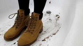 Boots crush banana