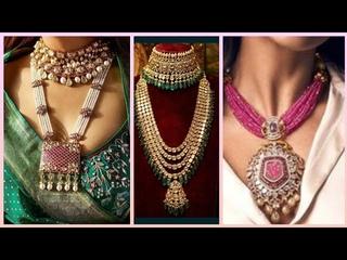 Gold Kundan Jewllery & Mala Set's Designs For Brides