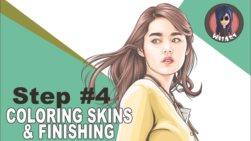 Vexel Art Tutorial using photoshop cs6 (step 4 Colloring Skins Finishing)