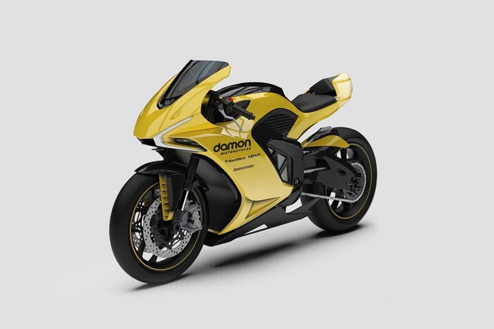 Электрический супербайк Damon Motorcycles Hypersport HS представили на CES 2020