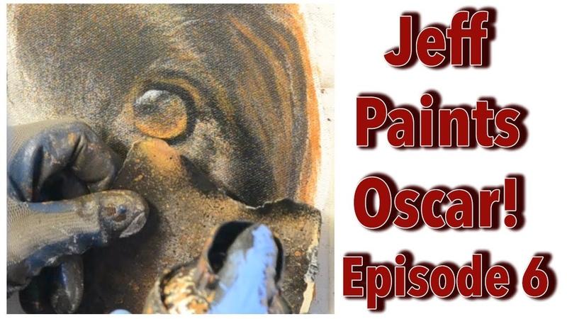 Jeff Paints Oscar Episode 6 A Pet Portrait produced using Spraypaint