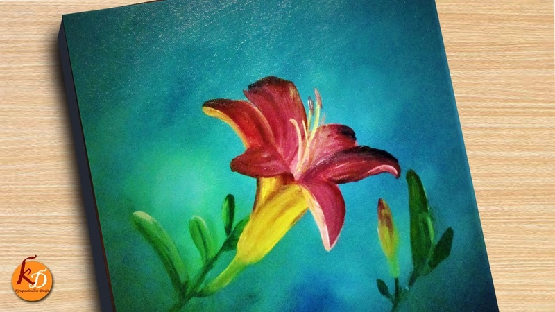 Lily flower Painting Episode 216