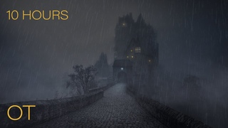 Spooky Rainy Night at Eltz Castle | Rain and LOW, DISTANT thunder | Relax | Study | Sleep | 10 HOURS