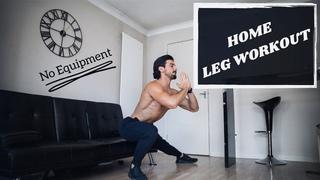 HOME LEG WORKOUT | Build Muscle | No Equipment | Rowan Row