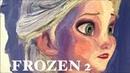 Frozen 2 Artwork 겨울왕국2 그려보자 | Oil Painting 유화 그리기 - 엘사 안나 올라프