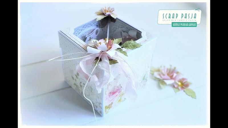 Exploding box z okienkiem z kolekcji Flower Romance Craft You Design