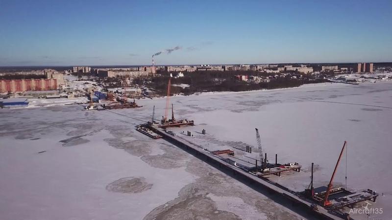 Новый мост Череповец аэросъемка Aircraft35