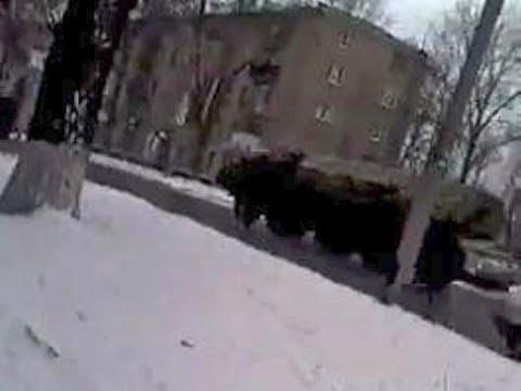 Макеевка колонна российских РСЗО Смерч 10 02 2015