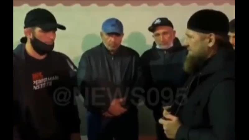 Рамзан Кадыров на похоронах у Абдулманапа Магомедовича