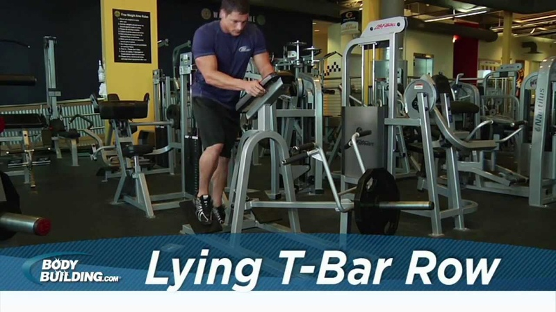 Lying T-Bar Row - Back Exercise - Bodybuilding.com