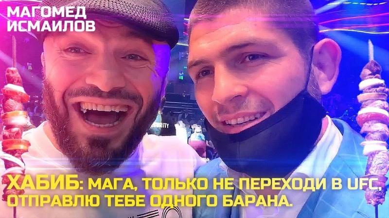 Хабиб Нурмагомедов Мага только не переходи в UFC Отправлю тебе одного барана Магомед Исмаилов👌🏽