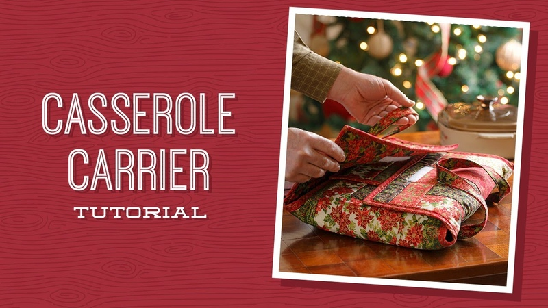 Make a Casserole Caddy Quilt As You Go Project with Courtenay of Missouri Star Video Tutorial