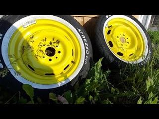 Покраска дисков ваз 2101. Вайтволлы своими руками. Белая полоска на шины. Фейл смотреть до конца!
