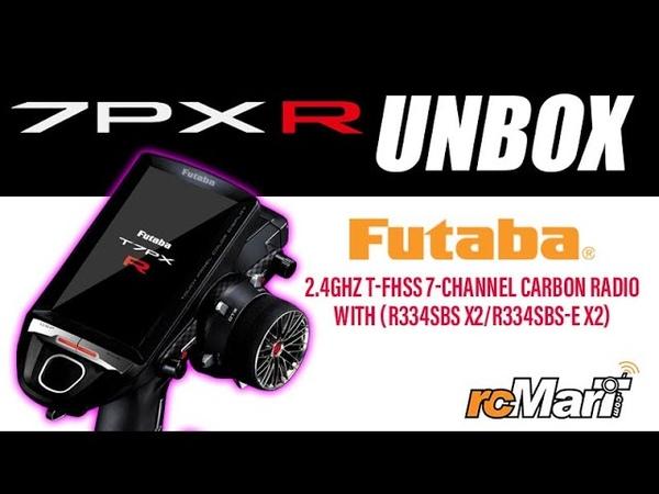 Futaba 7PXR 2 4GHz T FHSS 7 Channel Carbon Radio with R334SBS x2 R334SBS E x2 Unbox 7PXR