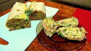 Рулет из лаваша - мировая закуска. Быстро, вкусно, питательно. Простые домашние рецепты.
