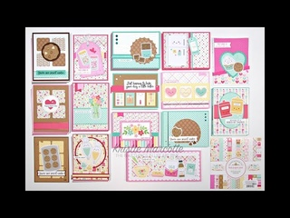 Doodlebug Design - Made with Love - 34 cards from one 6x6 paper pad