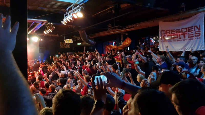 LFC fans sing Solsbury Hill at Munich Boss Session 13 03 19