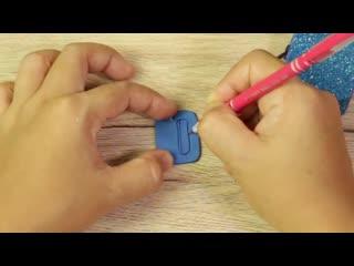 _DIY Miniature Mini Glitter School Bag-How to make Backpac