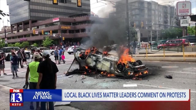 'Black Lives Matter did not hold a protest yesterday' BLM Utah addresses SLC protest