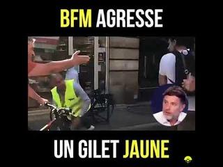 Le journaliste de BFM Igor Sahiri agresse un gilet jaune et ment sur le plateau