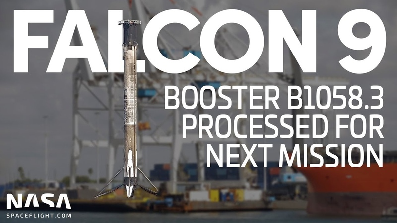 SpaceX Falcon 9 - Booster B1058.3 processed in Port Canaveral for next mission